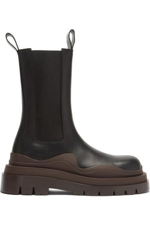 Bottega Veneta Bv Tire Leather Chelsea Boots - Womens