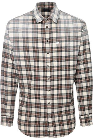 Dsquared2 Faded Check Cotton Flannel Shirt