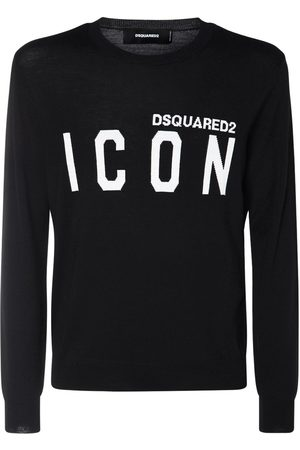 Dsquared2 Icon Jacquard Knit Wool Sweater