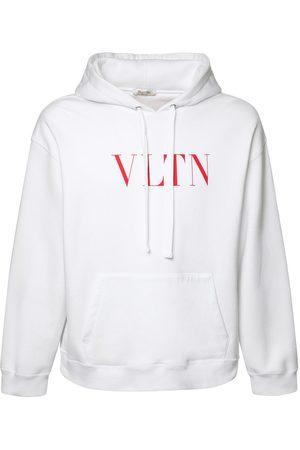 VALENTINO Vltn Print Cotton Jersey Hoodie