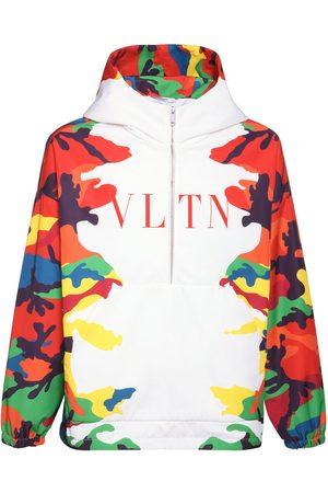 VALENTINO Camouflage Nylon Logo Anorak