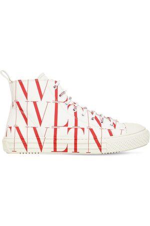 VALENTINO GARAVANI Vltn Times Print Canvas High Top Sneaker