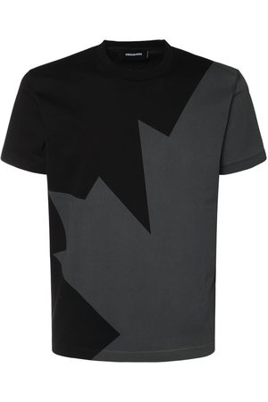 Dsquared2 Megaleaf Print Cotton Jersey T-shirt