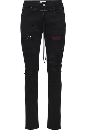 LIFTED ANCHORS Malibu Patches Cotton Denim Jeans