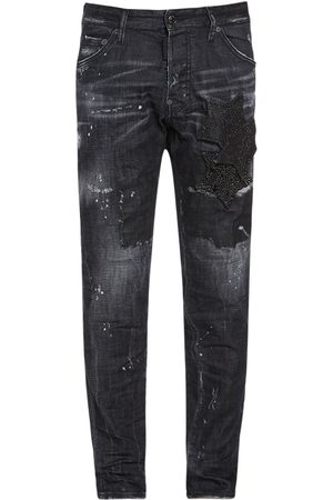 Dsquared2 16.5cm Cool Guy Stars Cotton Denim Jeans