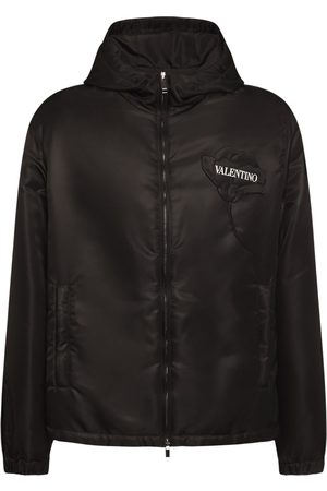 VALENTINO Embroidered Flower Nylon Windbreaker