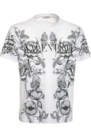 VALENTINO Dark Blooming Cotton Jersey T-shirt