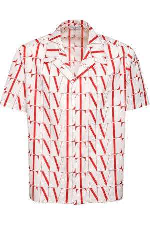 VALENTINO Allover Vltn Times Cotton Poplin Shirt