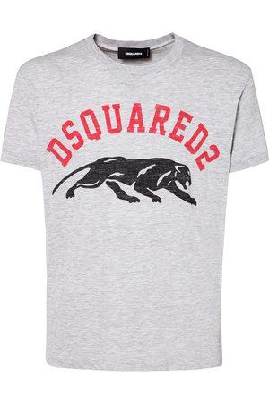 Dsquared2 Logo Print Cotton & Viscose T-shirt
