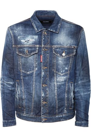 Dsquared2 Oversize Ripped Cotton Denim Jacket