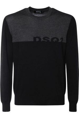Dsquared2 Logo Intarsia Wool Knit Sweater