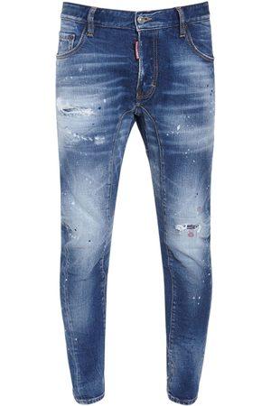 Dsquared2 17cm Tidy Biker Cotton Denim Jeans