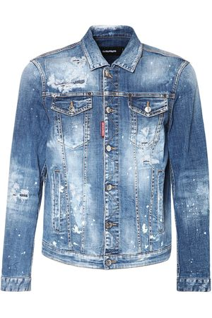 Dsquared2 Distressed Dan Cotton Denim Jacket