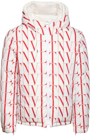 VALENTINO Allover Vltn Hooded Puffer Jacket