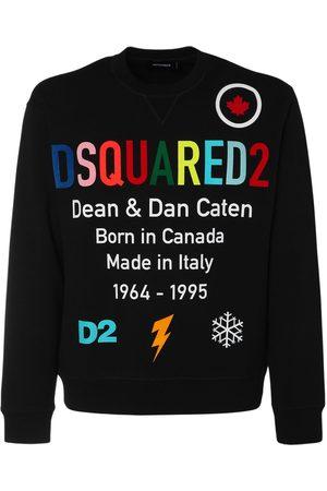 Dsquared2 Men Sweatshirts - Rainbow Logo Print Jersey Sweatshirt