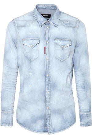 Dsquared2 Light Cotton Denim Western Shirt