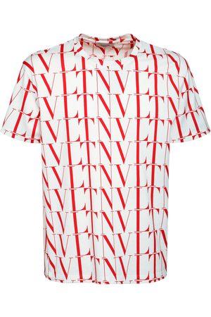 VALENTINO Allover Vltn Times Print Cotton T-shirt