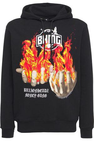 BHMG Fire Hands Logo Cotton Hoodie