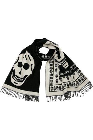 Alexander McQueen Oversize Skull Wool Knit Shawl