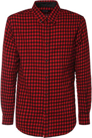 Dsquared2 Micro Check Wool & Viscose Flannel Shirt