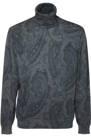Etro Pattern Wool Knit Turtleneck Sweater
