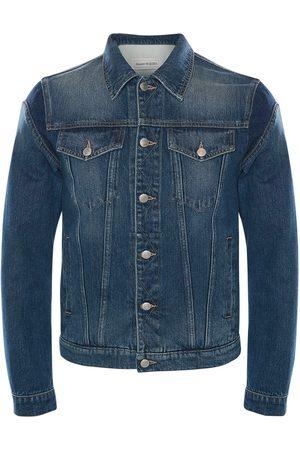 Alexander McQueen Graffiti Cotton Denim Jacket