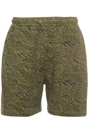 Kenzo All Over Printed Cotton Shorts