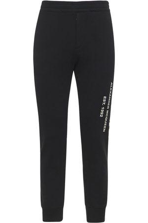 Alexander McQueen Graffiti Print Cotton Sweatpants