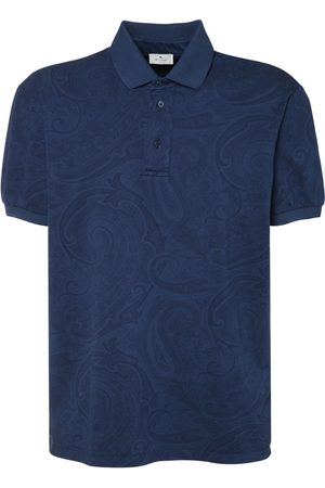 Etro Printed Cotton Jersey Polo