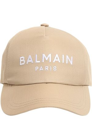 Balmain Logo Embroidery Cotton Twill Cap