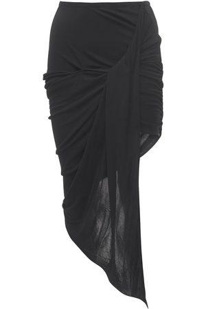 MUGLER Draped Crepe Jersey Skirt