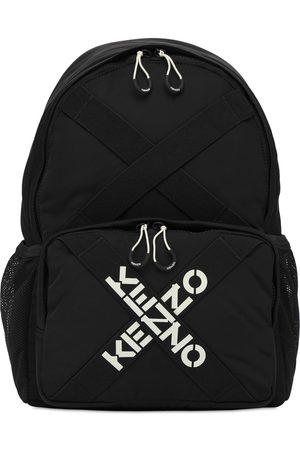 Kenzo Logo Printed Nylon Backpack