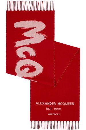 Alexander McQueen Graffiti Wool Knit Scarf