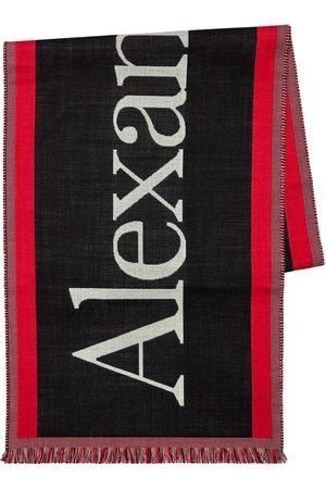 Alexander McQueen Logo Wool Scarf