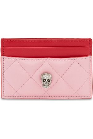 Alexander McQueen Quilted Pave Skull Card Holder