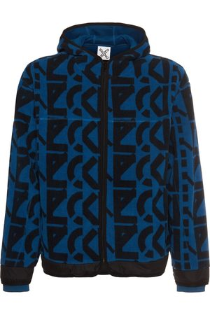 Kenzo All Over Logo Fleece Zip-up Hoodie