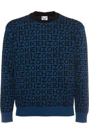 Kenzo Monogram Jacquard Cotton Blend Sweater