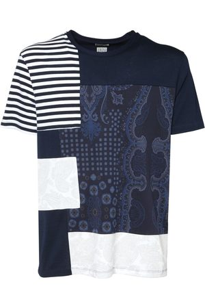 Etro Men T-shirts - Upcycled Patchwork Cotton Jersey T-shirt