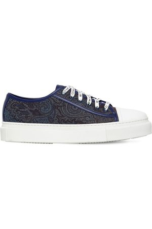 Etro Printed Canvas Sneakers