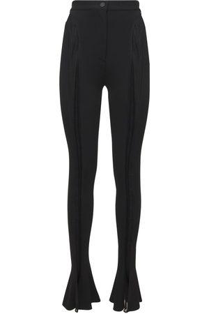 MUGLER Sheer Jersey Skinny Pants