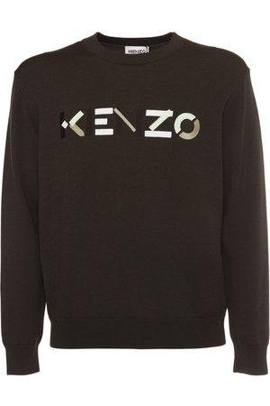 Kenzo Logo Embroidery Wool Knit Sweater