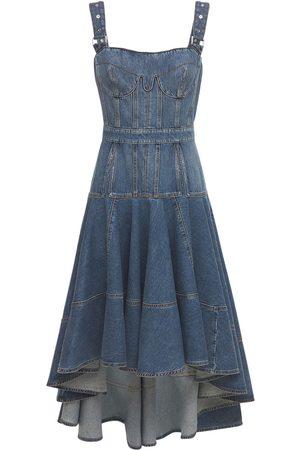 Alexander McQueen Cotton Bustier Dress