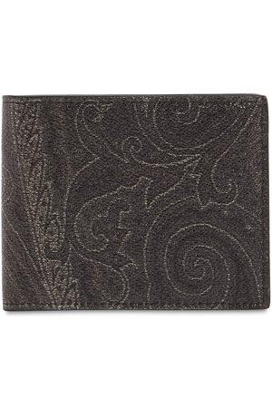 Etro Men Wallets - Paisley Print Cotton Blend Wallet
