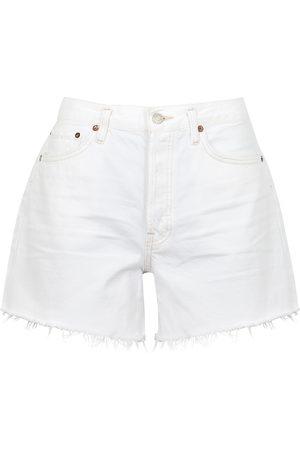 AGOLDE Women Shorts - Parker distressed denim shorts