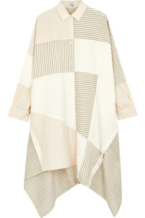 Loewe Women Casual Dresses - Ecru panelled shirt dress