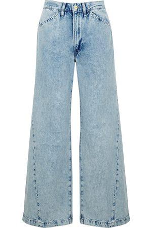 Frame Women Wide Leg - Le Baggy light cropped wide-leg jeans