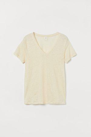 H&M Linen Jersey Top