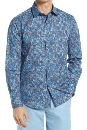 Bugatchi Men's Shaped Fit Floral Stretch Button-Up Shirt