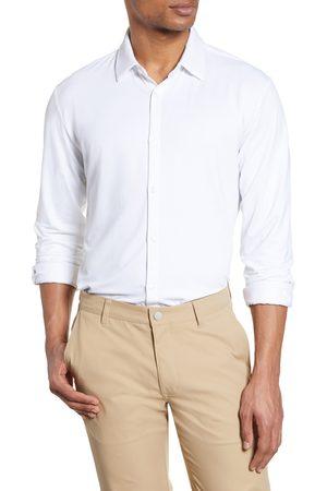 Mizzen+Main Men's Spinnaker Trim Fit Stretch Button-Up Shirt