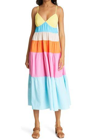 Staud Women's Cleo Colorblock Sundress